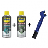 SET kartáč na řetěz + WD Chain Cleaner + WD Chain Lube 400ml