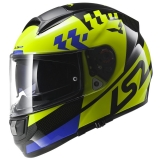 LS2 FF397 Vector Podium Hi-Vis yellow/black/blue, helma na motorku