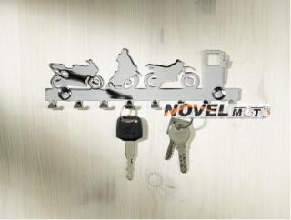Motorkářský věšák na klíče chrom empty 34b61581e5