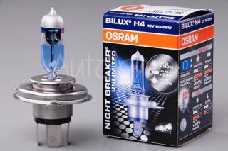OSRAM NIGHT BREAKER UNLIMITED +110% H4, žárovka 12V 60/55W P43t 1ks