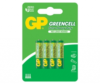 Baterie Alkalické 1,5V AAA GP Greencell, 4ks