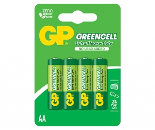 Baterie Alkalické 1,5V AA GP Greencell, 4ks