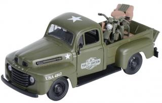 Model HD PICKUP + 1942 FL PANHEAD 1:24