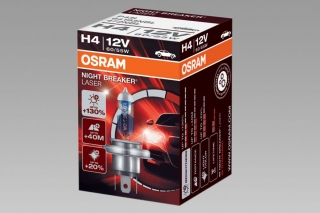 OSRAM NIGHT BREAKER LASER +130% H4, žárovka 12V 60/55W P43t 1ks