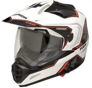 8b01032e88b Cassida Tour Globe bílo-černo-červená enduro helma na motorku DOPRAVA  ZDARMA empty