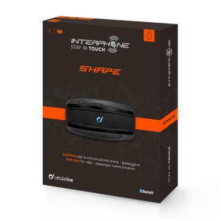 Bluetooth interkom INTERPHONE SHAPE single pack (10 m) na motorku + DOPRAVA ZDARMA