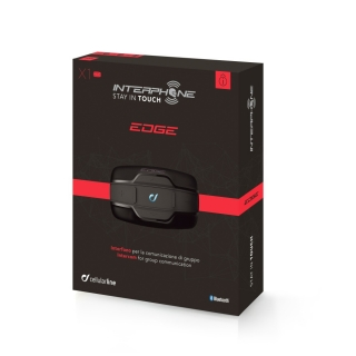 Bluetooth interkom INTERPHONE EDGE single pack (1 km) na motorku + DOPRAVA ZDARMA