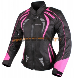 Dámská bunda na motorku RSA Queen černo - růžová empty e201bc3f97